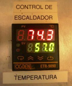 Rastro Aves. Controlador de Temperatura